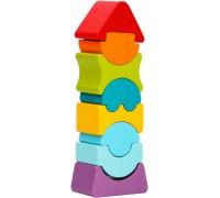 Деревянная Пирамидка LD-8 Cubika 12718 8 деталей