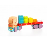 Деревянный тягач с геометрическими фигурами LM-13 Cubika 13425 19 деталей