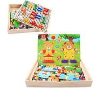 Деревянная игра мозаика C23127 Гардероб + Мозаика
