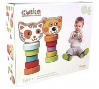 Набор деревянных игрушек Гибкие животные Cubika 13661