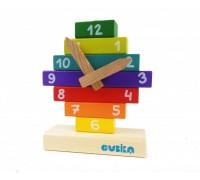 Конструктор деревянный Часы Cubika 14354