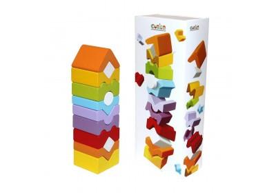 Деревянная Пирамидка LD-11 Cubika 14996 10 деталей
