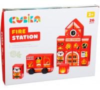 Конструктор деревянный Cubika 15139 Пожарная станция LDK3