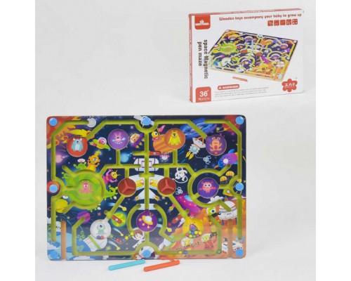 Деревянная игра Лабиринт 35825 Космос на магнитах