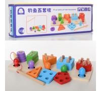 Деревянная игрушка Геометрика-рыбалка Fun Toys MD 2177
