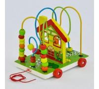 Деревянная каталка с пальчиковым лабиринтом Fun game 7368