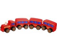 Деревянная игрушка Cubika Поезд классический на магнитах 15375