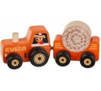 Деревянная игрушка Трактор на магнитах Cubika 15351