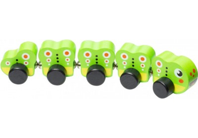 Деревянная игрушка Гусеница на магнитах Cubika 15405