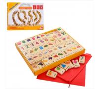 Деревянная игрушка домино для детей - игра MD1168