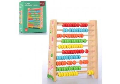 Деревянная игрушка Счёты MD 2806