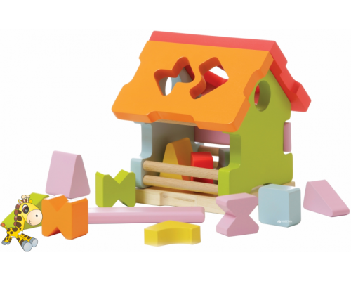 Сортер деревянный Домик Cubika 11599