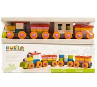 Конструктор деревянный Поезд LP-1 Cubika 11681