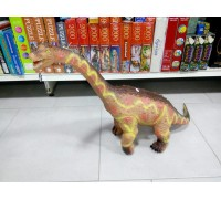 Динозавр большой резиновый со звуком 80 см  брахиозавр