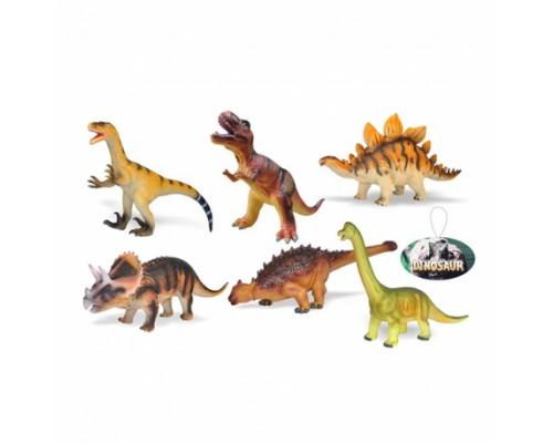 Динозавр большой резиновый 2608 6 видов