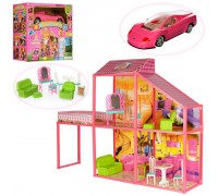 Дом для кукол с машиной My lovely villa 6981