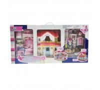 Кукольный домик с мебелью и фигурками 16838B