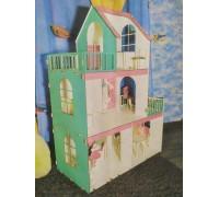Эко дом для кукол ЛОЛ с мебелью