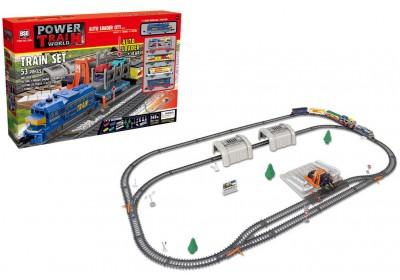 Железная дорога с машинками 2084