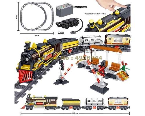 Конструктор Железная дорога на управлении QL0313 1464 детали