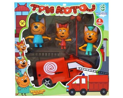 Игровой набор Три кота с пожарной машинкой PS661