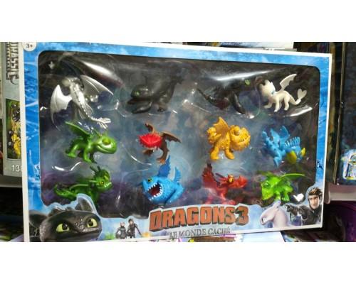 Как приручить дракона набор фигурок 12 штук 839174