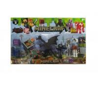 Набор героев фигурки Minecraft 19272 с черным драконом