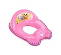 Детская накладка на унитаз Tega baby Сафари розовая SF-012-127