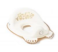 Детская накладка на унитаз Tega baby Медведи Белая жемчужина MS-016-118