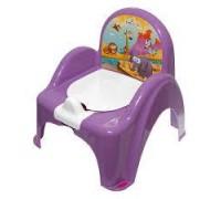 Горшок-стульчик Tega Baby музыкальный Сафари фиолетовый PO-041-128