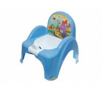 Горшок-стульчик Tega Baby музыкальный Сафари голубой PO-041-126
