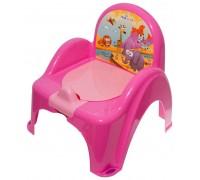 Горшок-стульчик Tega Baby музыкальный Сафари розовый PO-041-127