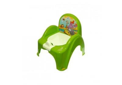 Горшок-стульчик Tega Baby музыкальный Сафари зеленый PO-041-125