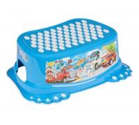 Детская подставка для ванной Tega Baby Cars голубая CS-006-120