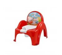 Горшок-стульчик Tega Baby музыкальный Машинки красный PO-053-121