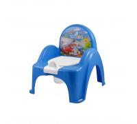 Горшок-стульчик Tega Baby музыкальный Машинки голубой PO-053-120