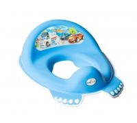 Детская накладка на унитаз Tega baby Машинки голубая CS-002-120