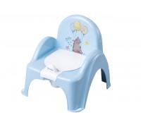 Горшок-стульчик лесная сказка с музыкой голубой PO-073-108