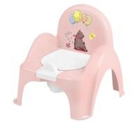 Горшок-стульчик лесная сказка с музыкой розовый PO-073-107
