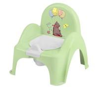 Горшок-стульчик лесная сказка с музыкой зеленый PO-073-112