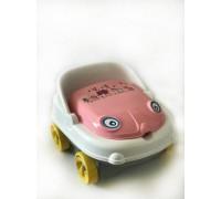 Детский музыкальный горшок Irak Plastik машинка 111 серо-розовый