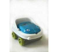 Детский музыкальный горшок Irak Plastik машинка 111 сине-белый