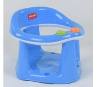Детское сиденье для купания на присосках синее с белым 11121