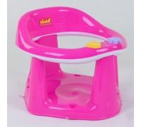 Детское сиденье для купания на присосках малиновое с белым 11121