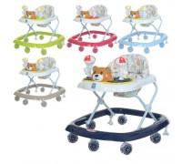 Ходунки детские Bambi M3656-S-2 c силиконовыми колесами 5 цветов