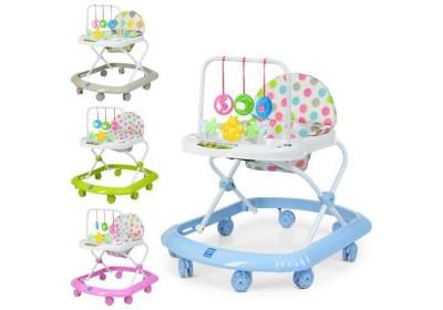 Ходунки детские Bambi с силиконовыми колесами 0591-S 4 цвета