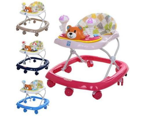 Ходунки детские Bambi M3656-S c силиконовыми колесами 4 цвета