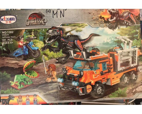 Конструктор Wanner 1382 Охота на динозавров на грузовике