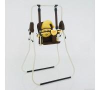 Качели детские напольные Casper Умка коричневые с желтым