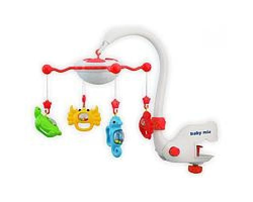 Музыкальная карусель с подсветкой Baby Mix BT9001-Red